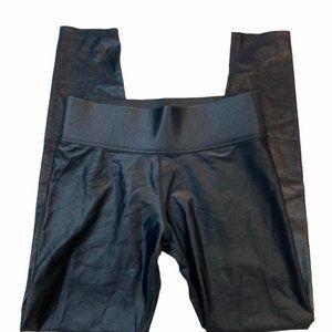 CARBON38 Black Shine Reg Rise Leggings. Size M